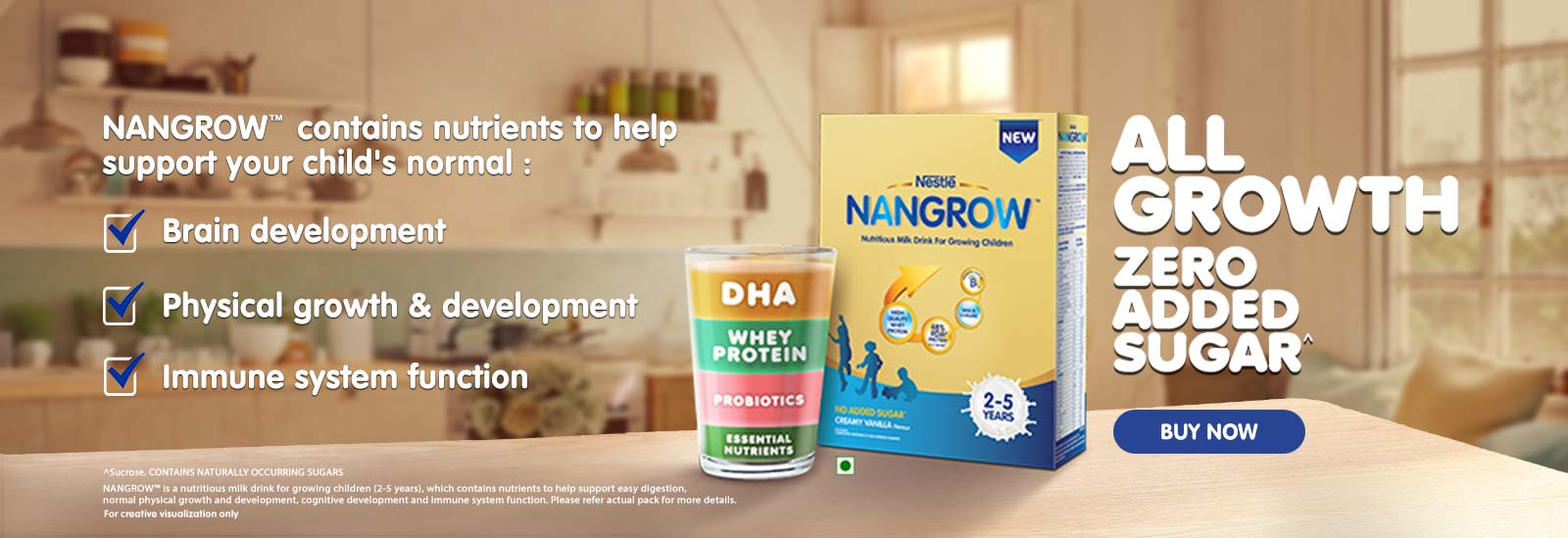 Nangrow Contains nutrients to help support your childs normal